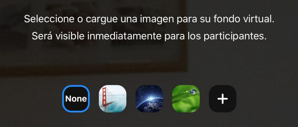 Cargar fondo virtual con en Zoom con iPad