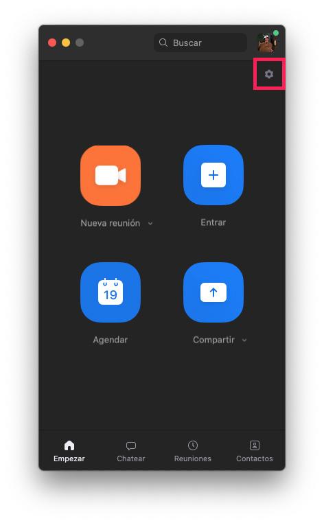 Configuración cliente Zoom